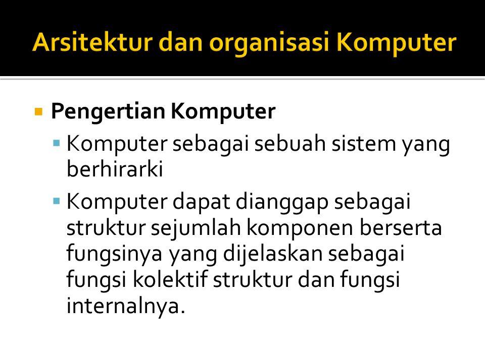 Arsitektur dan organisasi Komputer