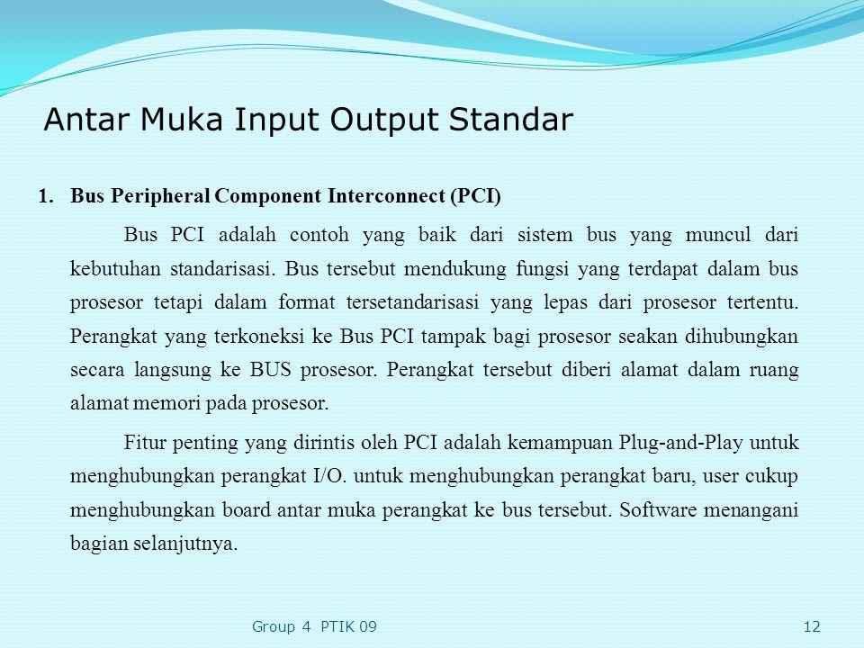 Antar Muka Input Output Standar