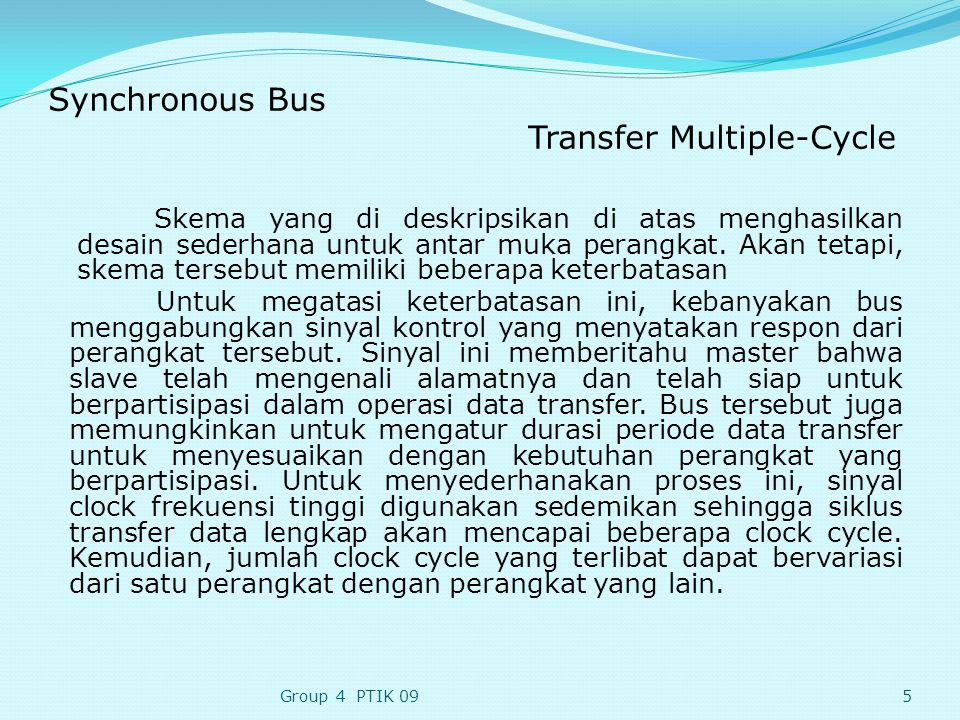 Synchronous Bus Transfer Multiple-Cycle