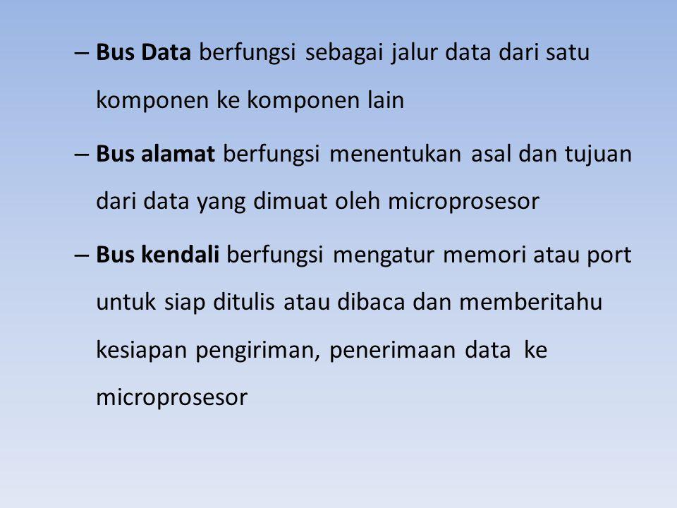 Bus Data berfungsi sebagai jalur data dari satu komponen ke komponen lain