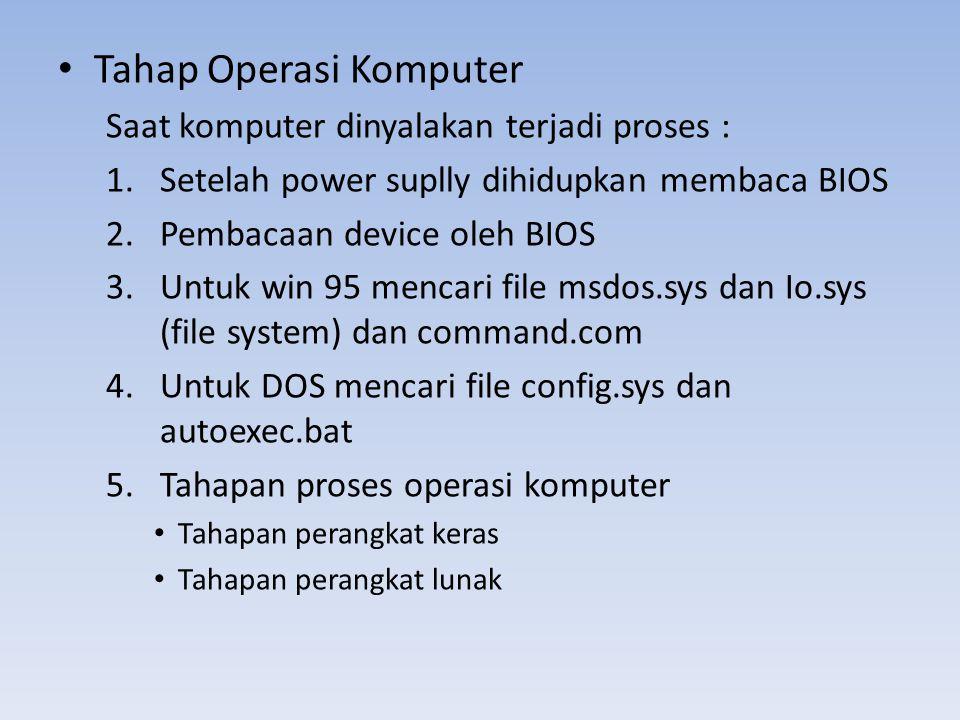 Tahap Operasi Komputer