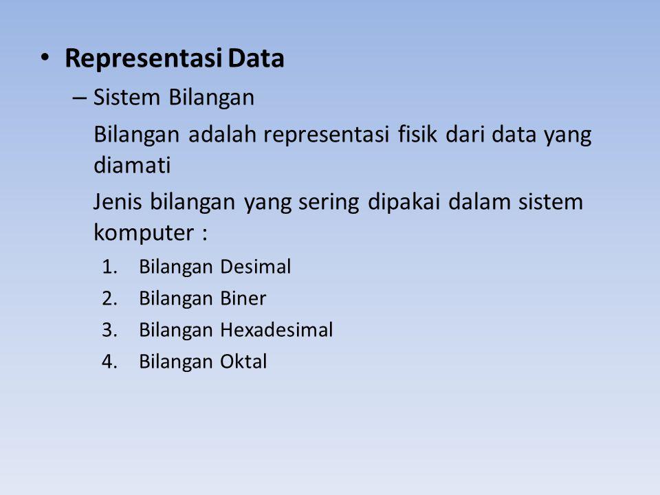 Representasi Data Sistem Bilangan
