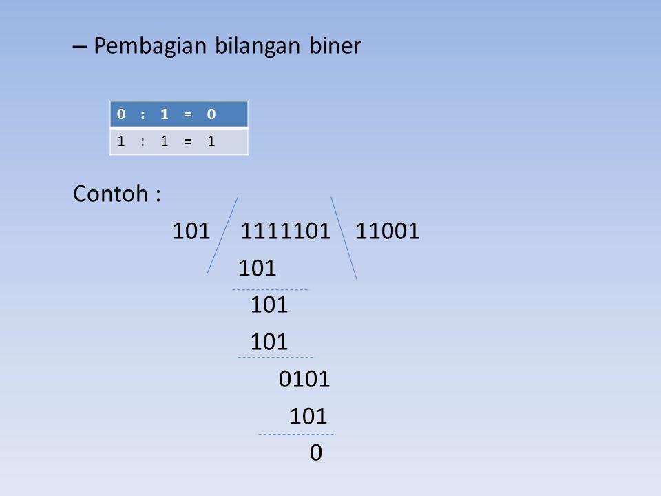 Pembagian bilangan biner