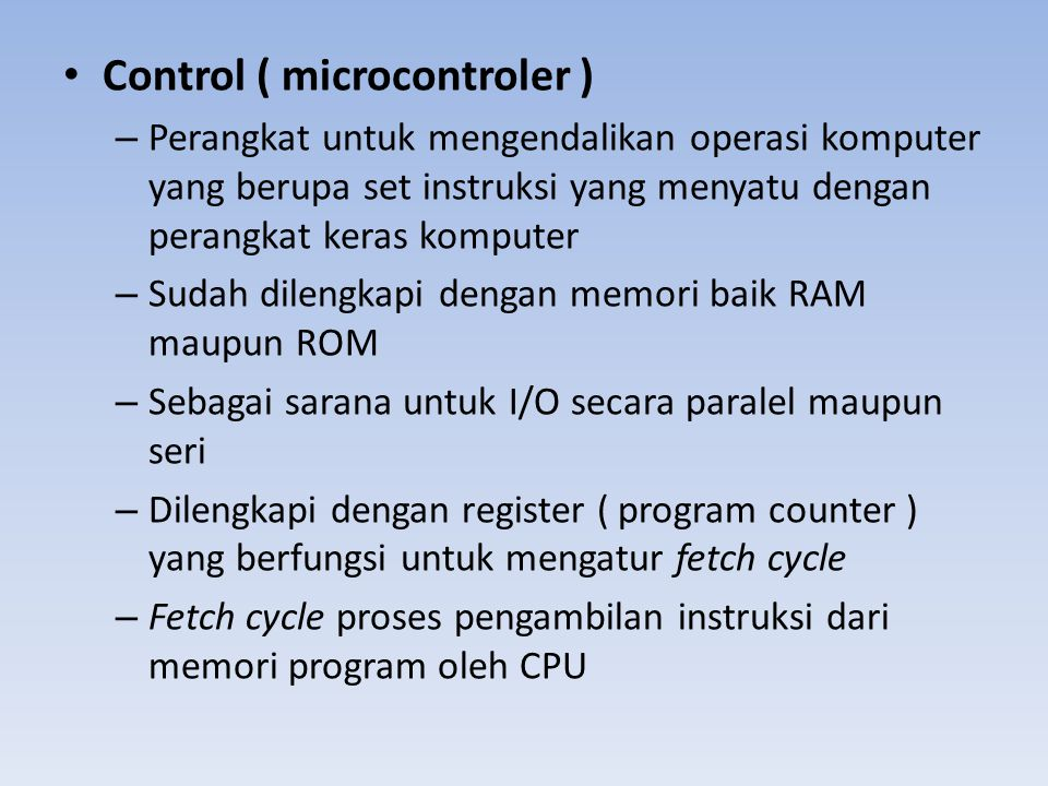 Control ( microcontroler )