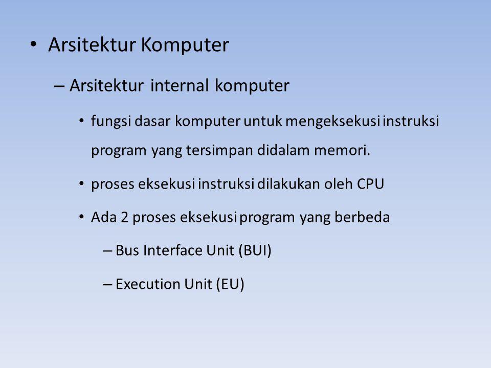 Arsitektur Komputer Arsitektur internal komputer