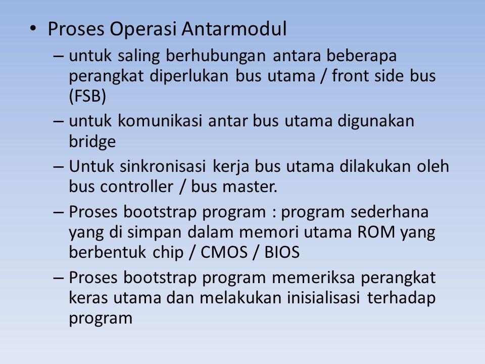 Proses Operasi Antarmodul