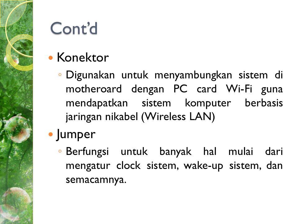 Cont'd Konektor Jumper