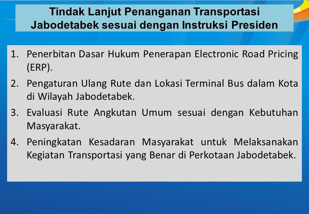 Tindak Lanjut Penanganan Transportasi Jabodetabek sesuai dengan Instruksi Presiden