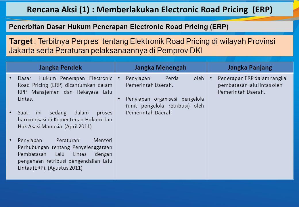 Rencana Aksi (1) : Memberlakukan Electronic Road Pricing (ERP)