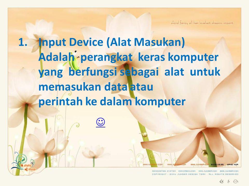 Input Device (Alat Masukan)