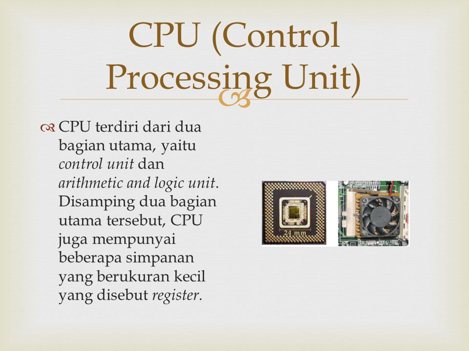 CPU (Control Processing Unit)