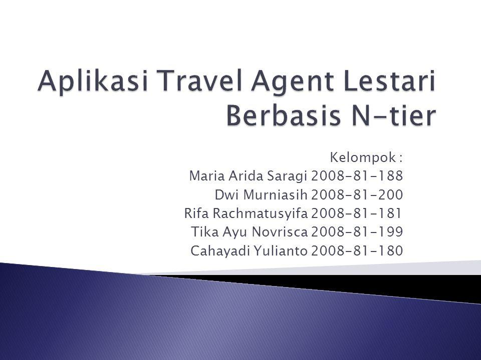 Aplikasi Travel Agent Lestari Berbasis N-tier