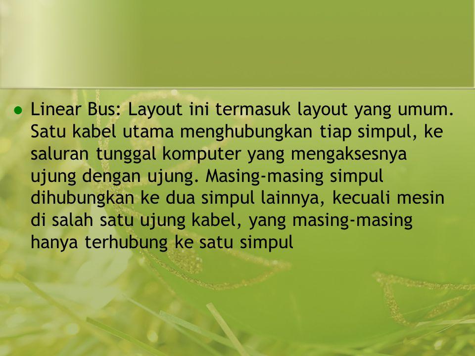 Linear Bus: Layout ini termasuk layout yang umum