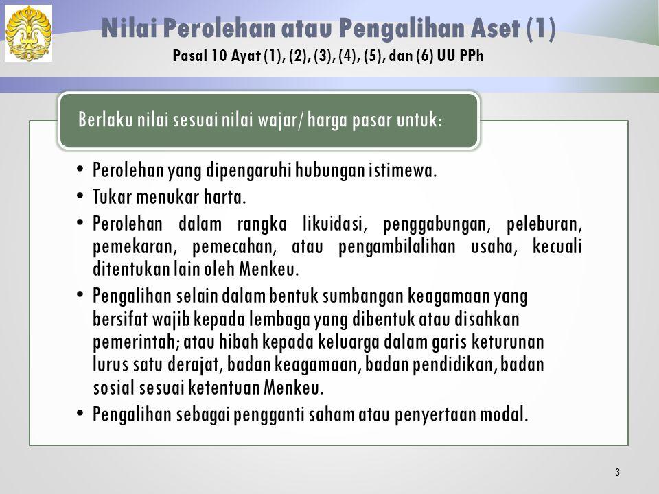 Nilai Perolehan atau Pengalihan Aset (1)