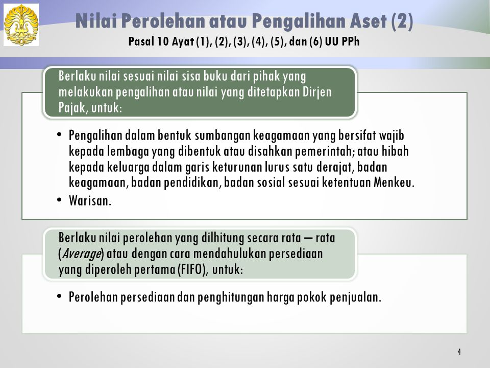 Nilai Perolehan atau Pengalihan Aset (2)