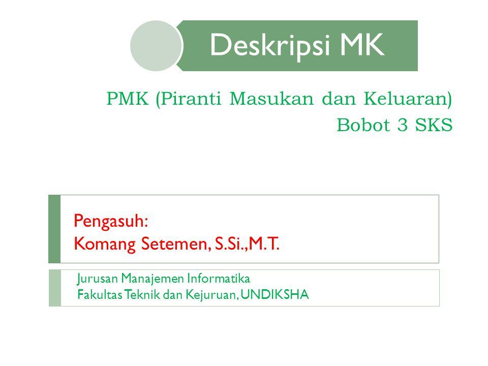PMK (Piranti Masukan dan Keluaran) Bobot 3 SKS