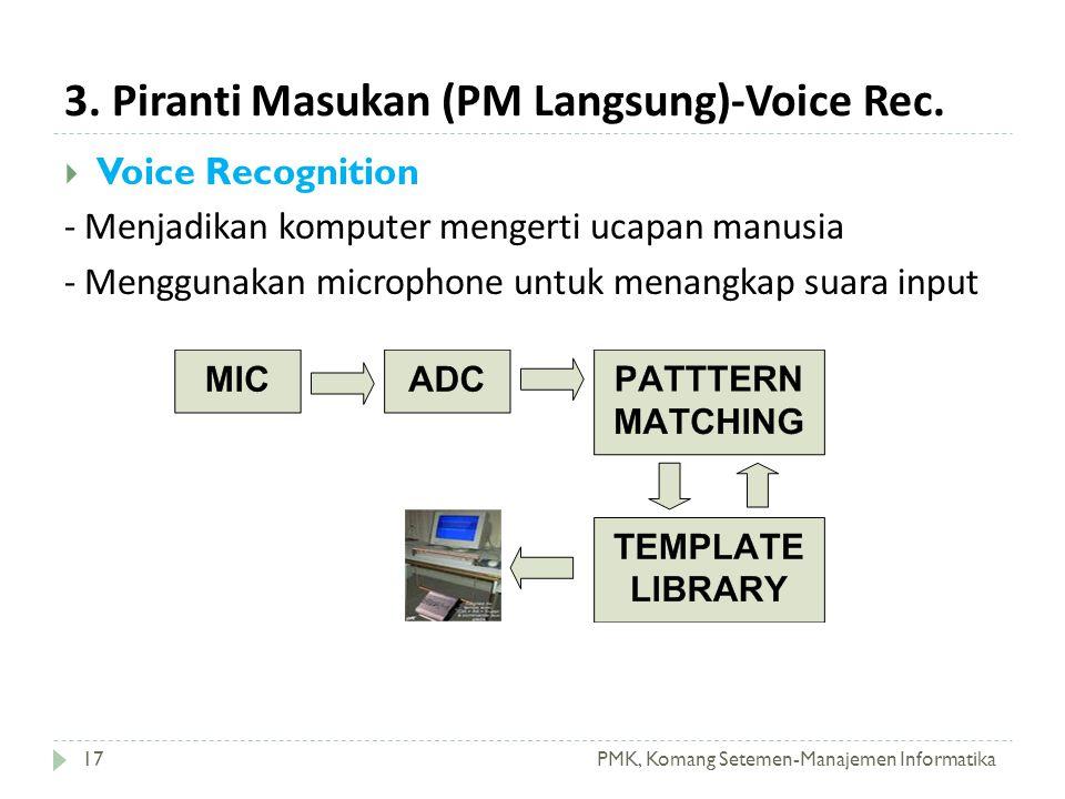 3. Piranti Masukan (PM Langsung)-Voice Rec.