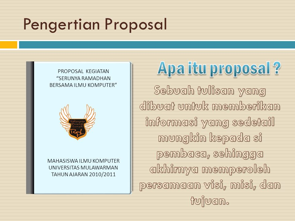 Pengertian Proposal Apa itu proposal