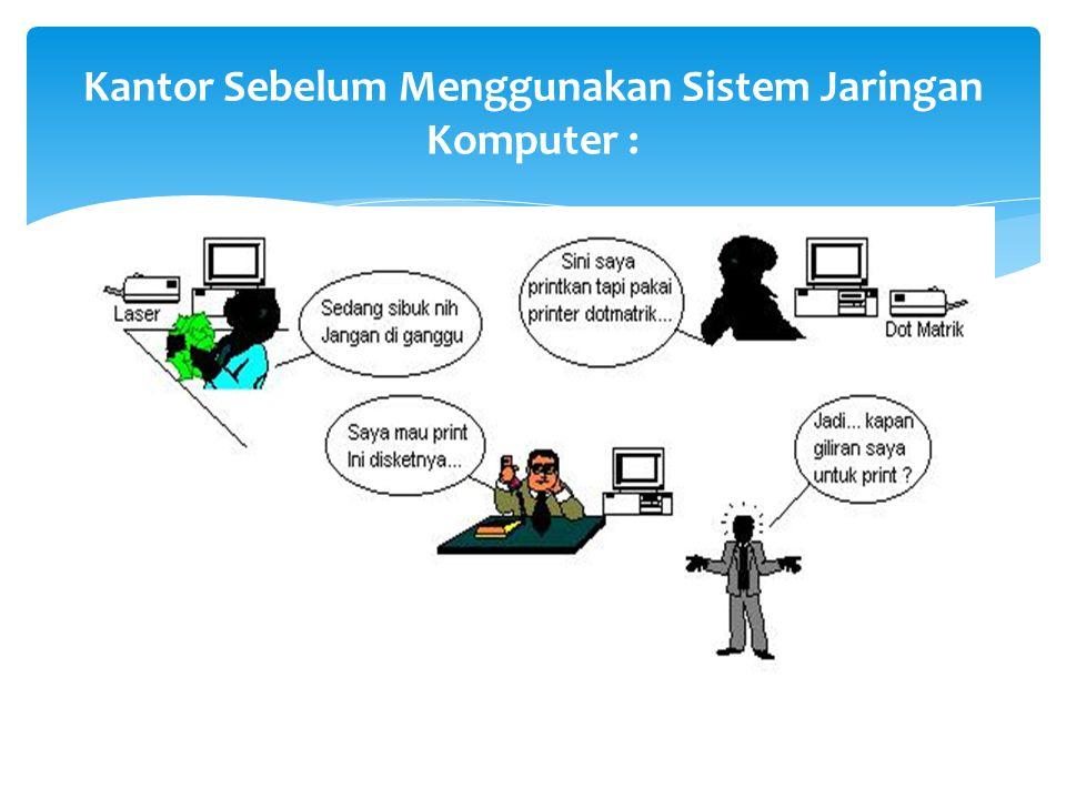 Kantor Sebelum Menggunakan Sistem Jaringan Komputer :