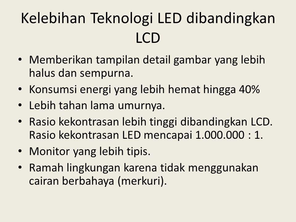Kelebihan Teknologi LED dibandingkan LCD