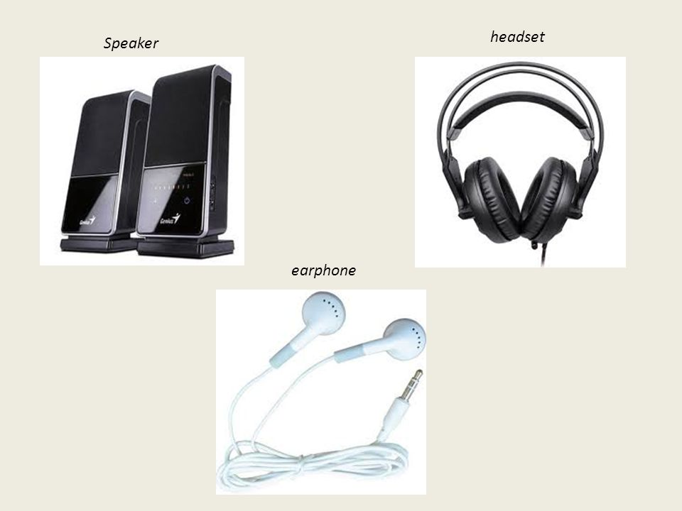 headset Speaker earphone