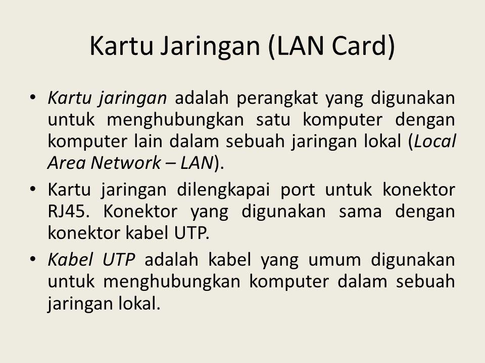 Kartu Jaringan (LAN Card)