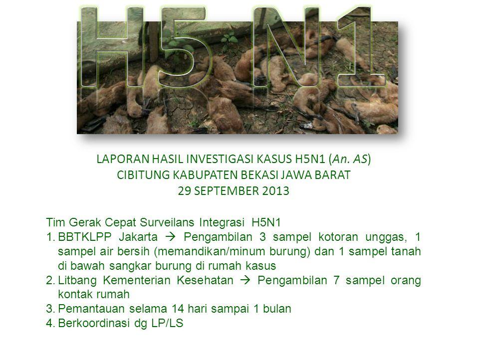 H5 N1 LAPORAN HASIL INVESTIGASI KASUS H5N1 (An. AS)