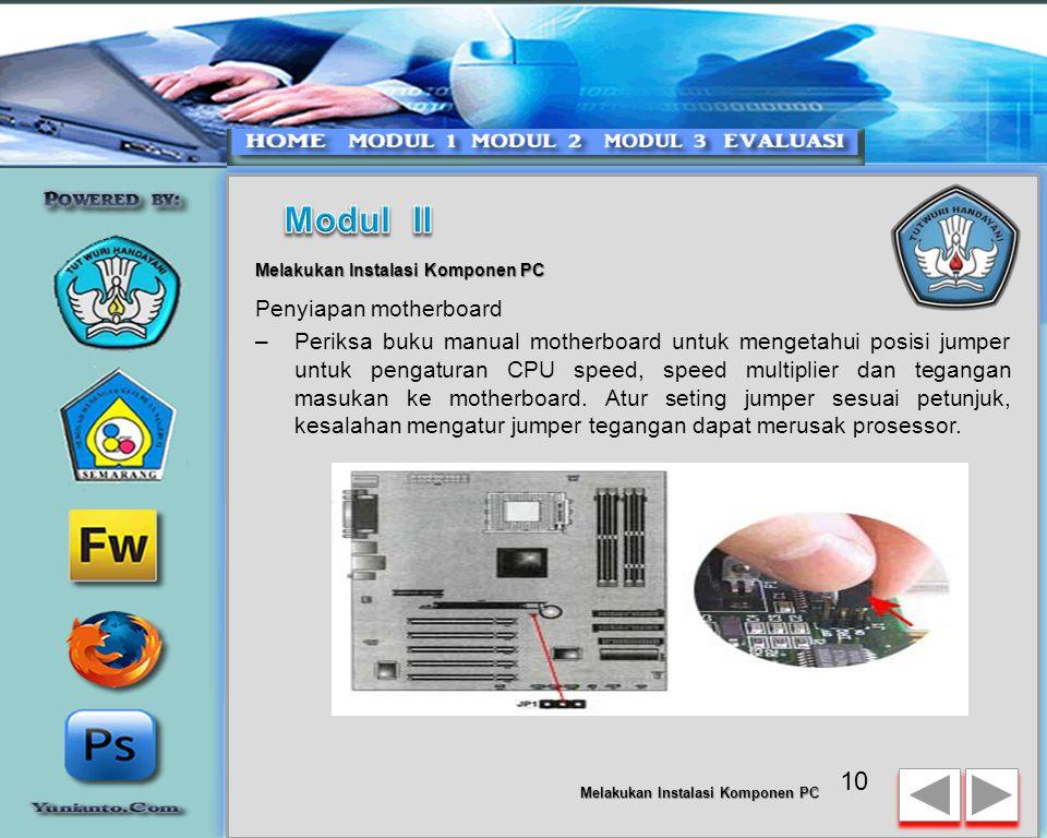 Modul II Penyiapan motherboard