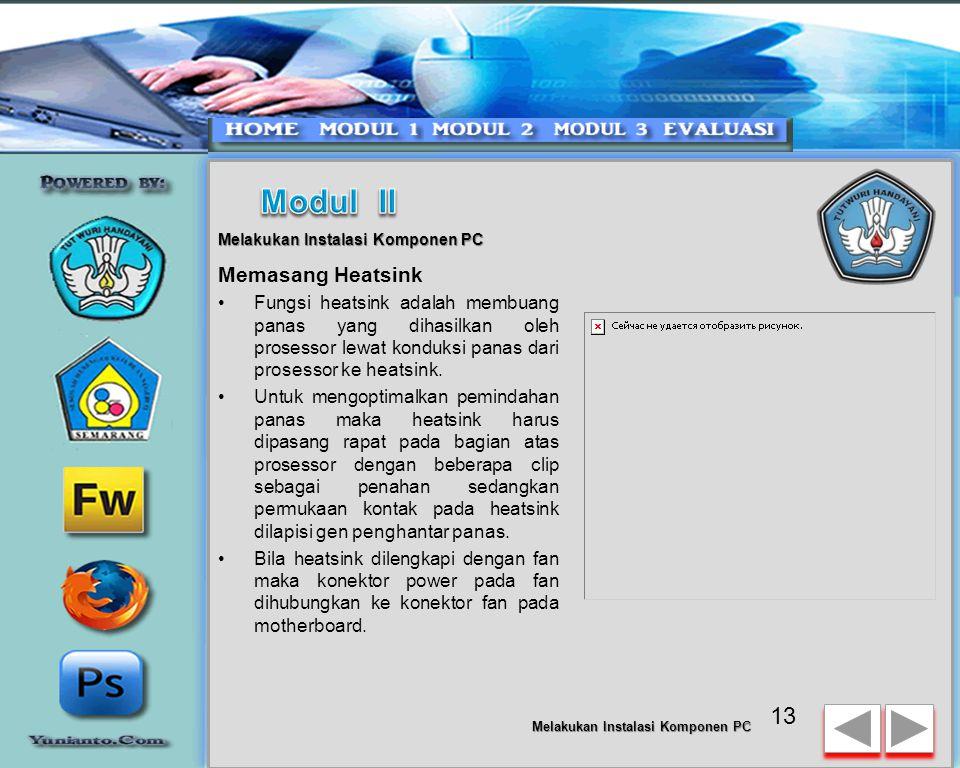 Modul II Memasang Heatsink