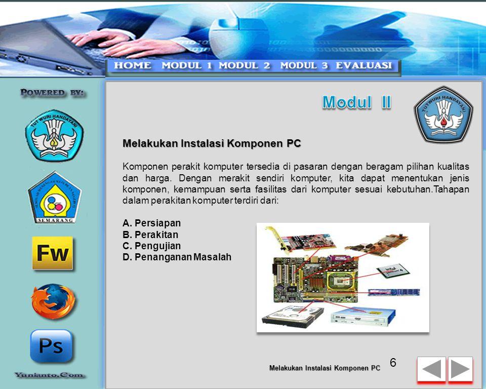 Modul II Melakukan Instalasi Komponen PC