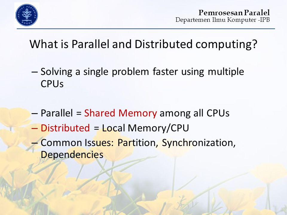 What is Parallel and Distributed computing