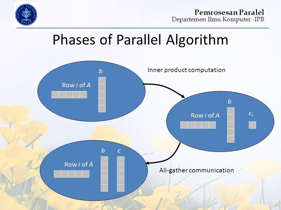 Phases of Parallel Algorithm
