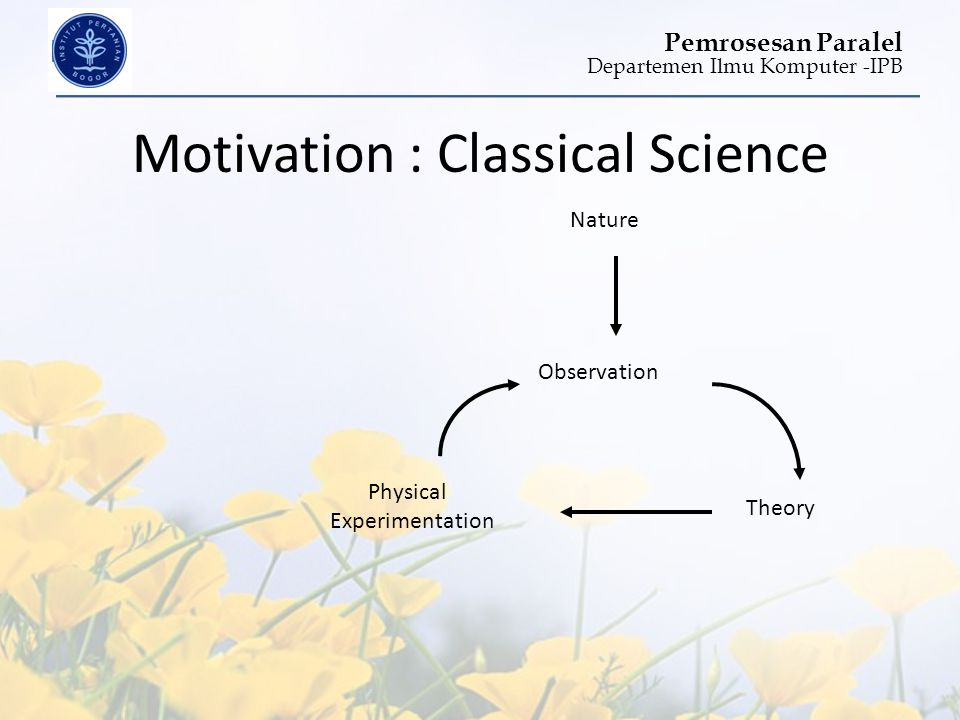 Motivation : Classical Science