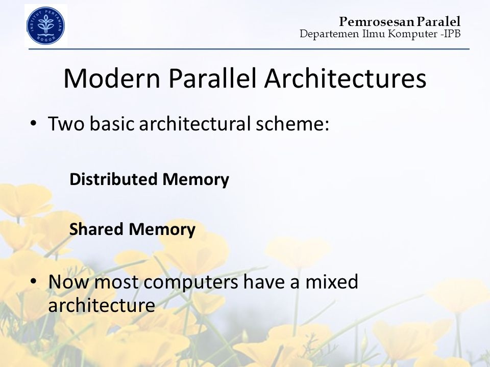 Modern Parallel Architectures