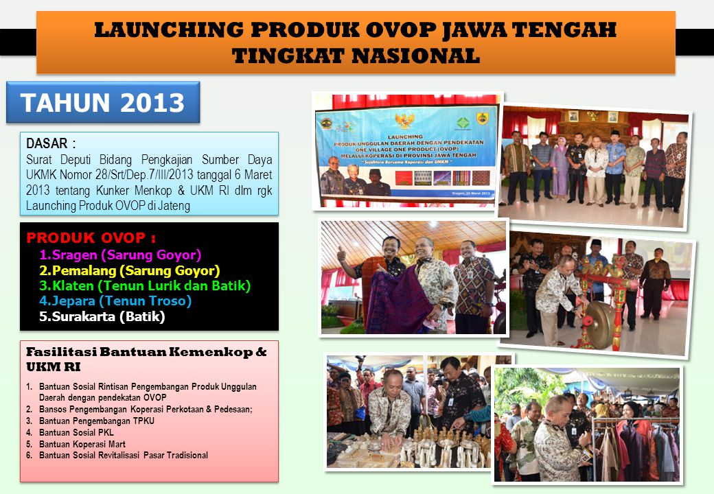 LAUNCHING PRODUK OVOP JAWA TENGAH