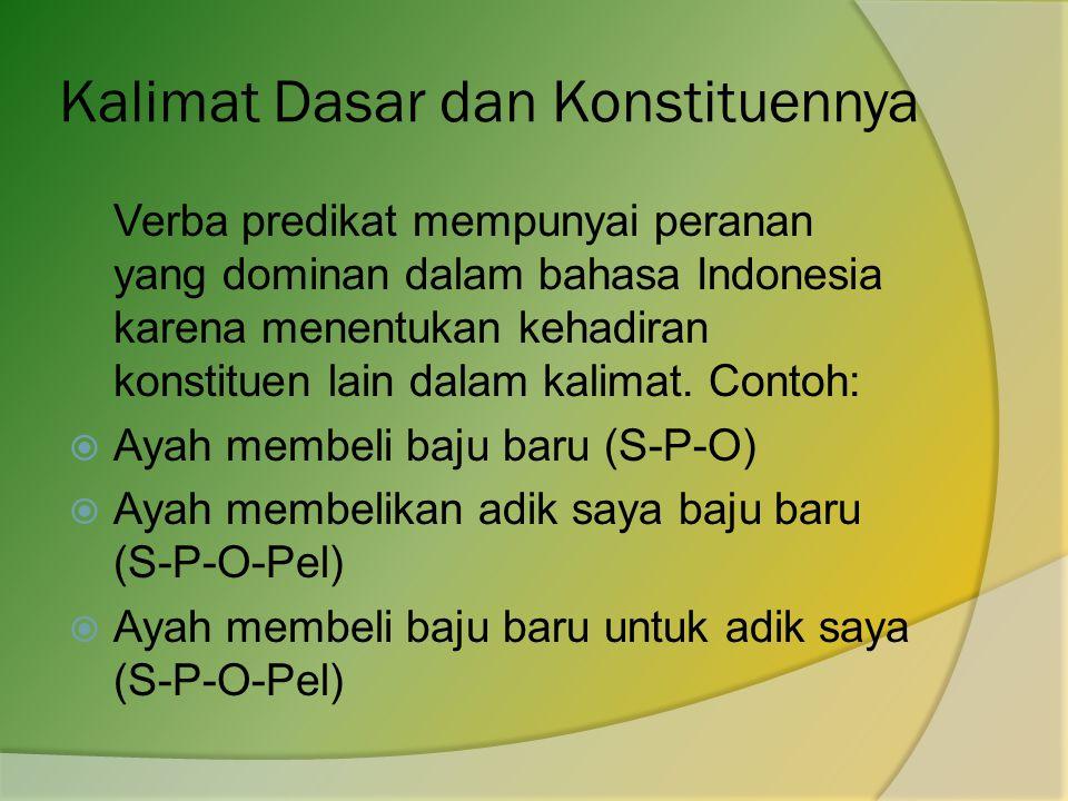 Kalimat Dasar dan Konstituennya