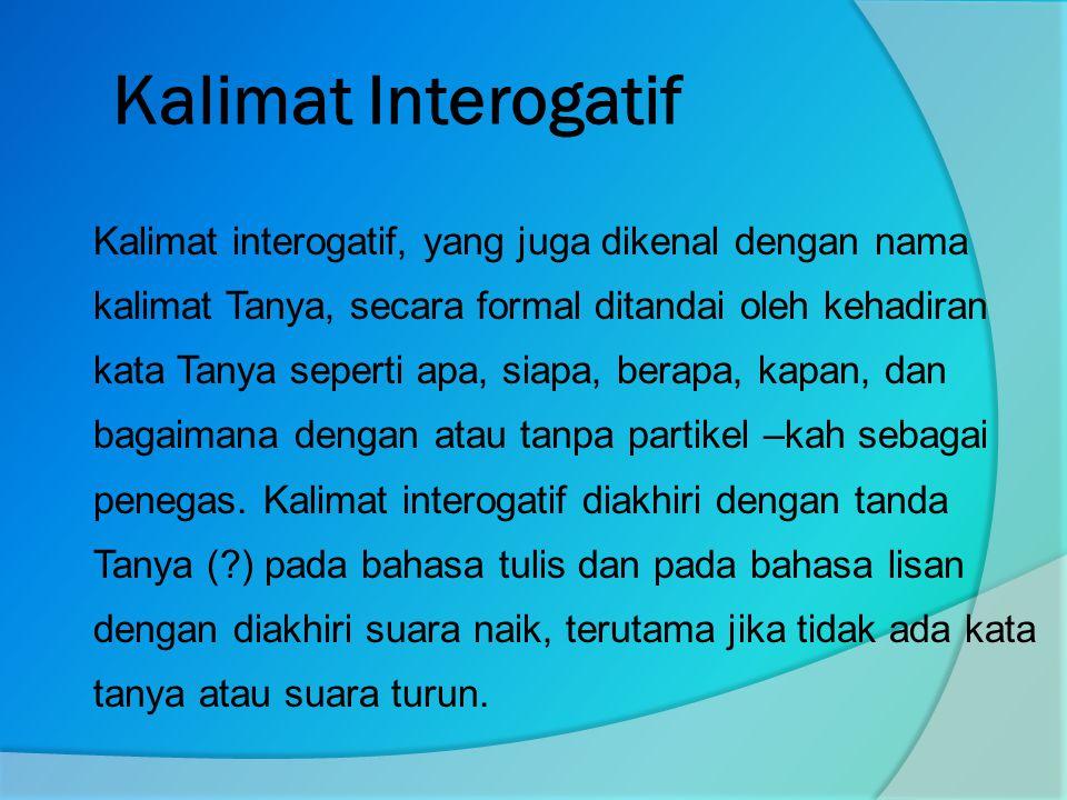 Kalimat Interogatif