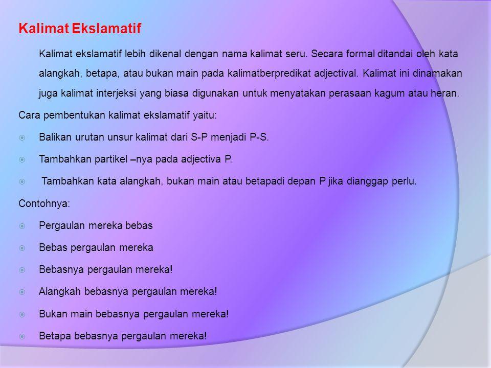 Kalimat Ekslamatif