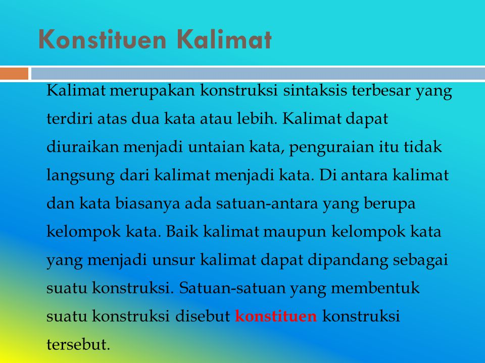 Konstituen Kalimat