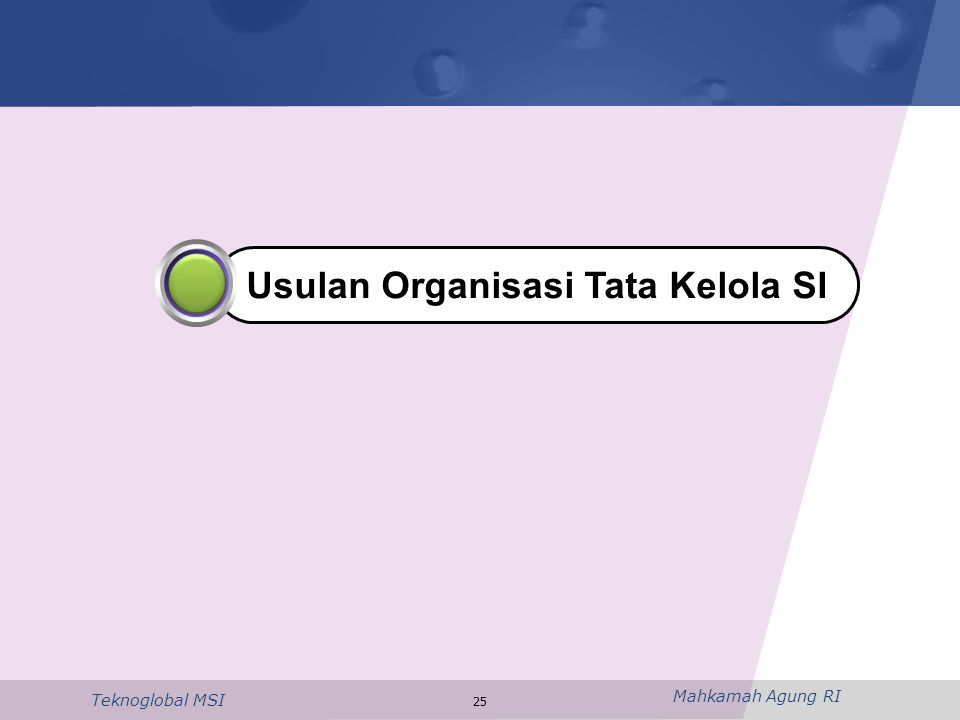 Usulan Organisasi Tata Kelola SI