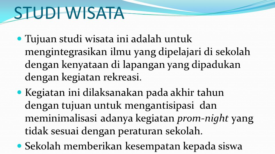 STUDI WISATA