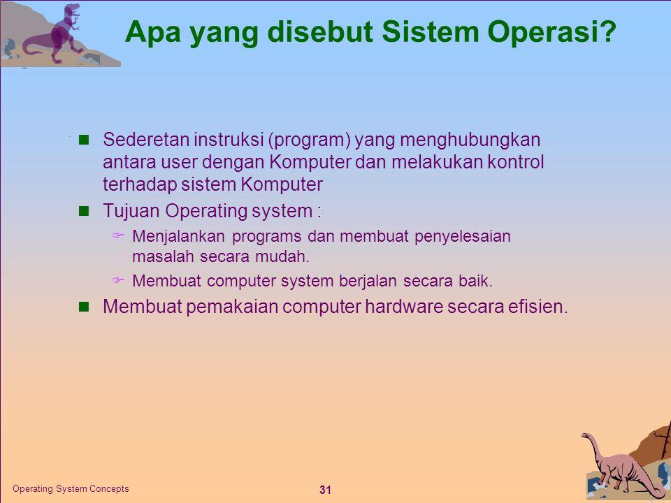 Apa yang disebut Sistem Operasi