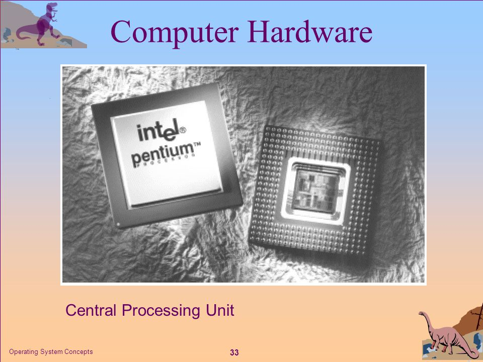Computer Hardware Central Processing Unit Operating System Concepts