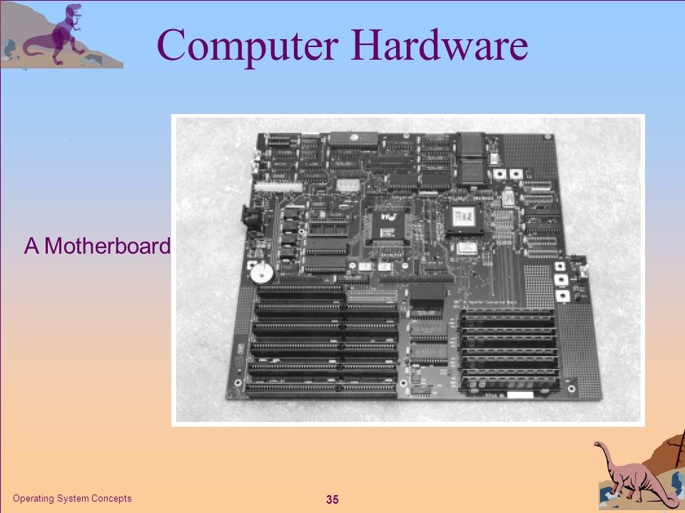 Computer Hardware A Motherboard Operating System Concepts