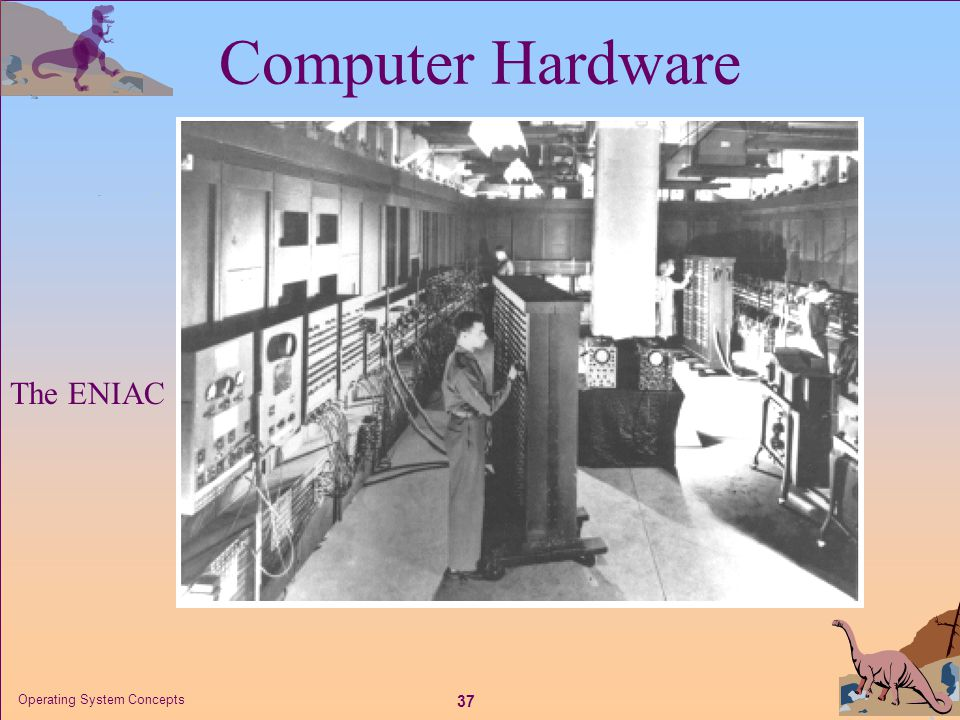Computer Hardware The ENIAC Operating System Concepts