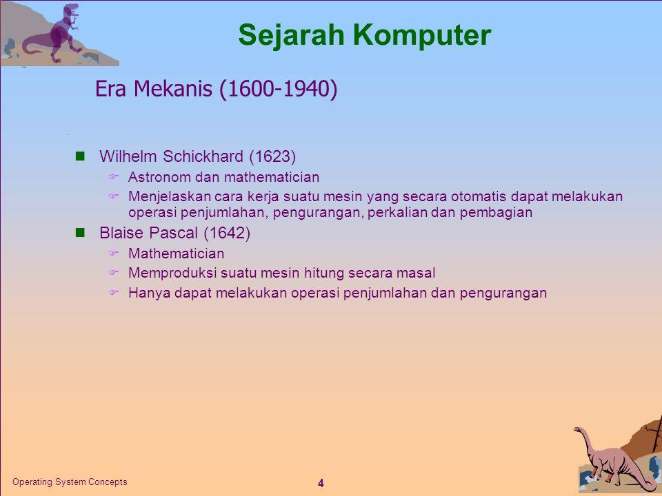 Sejarah Komputer Era Mekanis (1600-1940) Wilhelm Schickhard (1623)