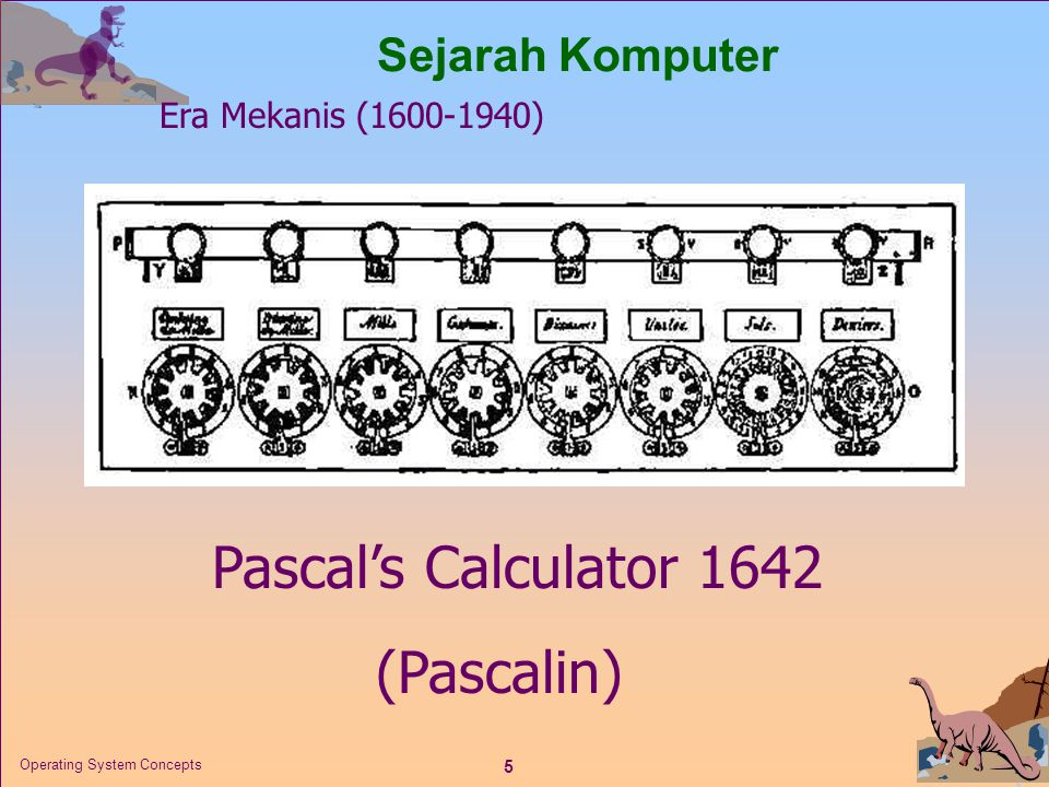 Pascal's Calculator 1642 (Pascalin) Sejarah Komputer