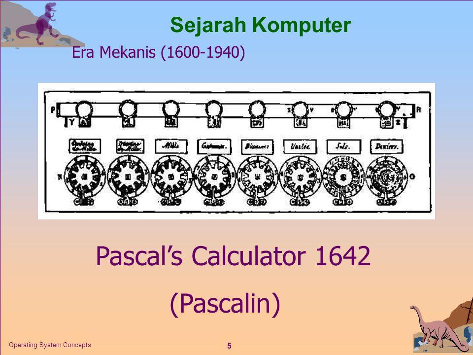 Pascal's Calculator 1642 (Pascalin) Sejarah Komputer