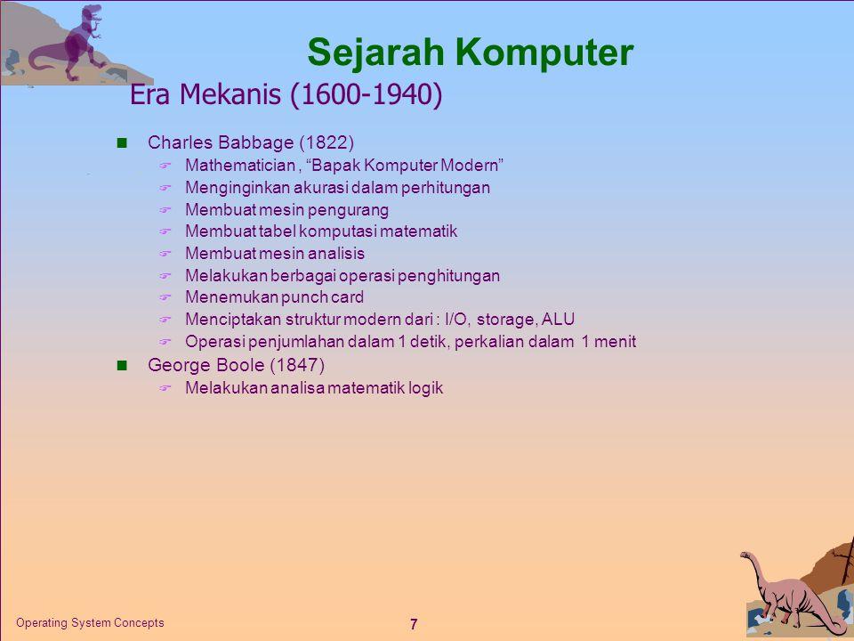 Sejarah Komputer Era Mekanis (1600-1940) Charles Babbage (1822)