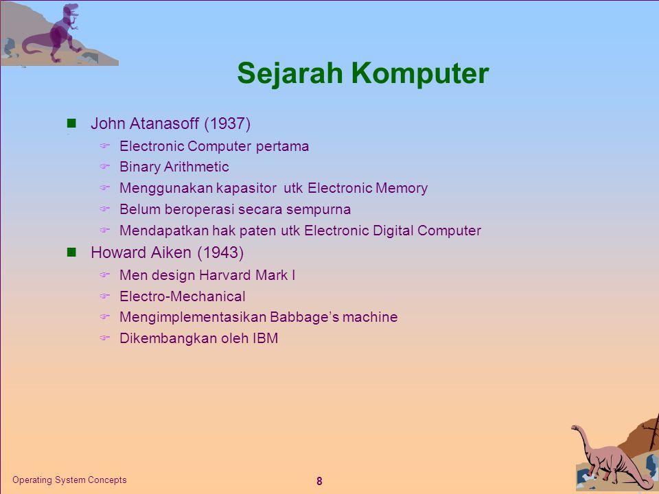 Sejarah Komputer John Atanasoff (1937) Howard Aiken (1943)